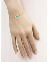 Jennifer Meyer - Metallic Diamond Turquoise Inlay Circle Bracelet - Lyst