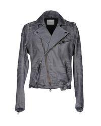 Balmain - Gray Denim Outerwear for Men - Lyst