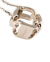 Ferragamo - Metallic Necklace - Lyst