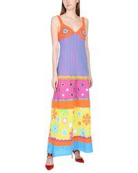 Moschino - Blue Long Dress - Lyst