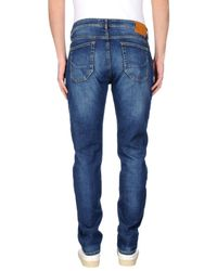 Siviglia - Blue Denim Trousers for Men - Lyst