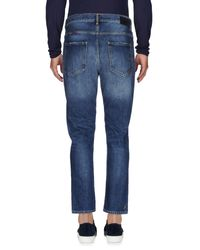 Pence Blue Denim Trousers for men