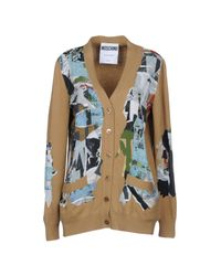Moschino - Natural Cardigan - Lyst