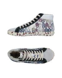 Springa - White High-tops & Sneakers for Men - Lyst