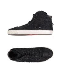 Ash - Black Shearling Lace-up Sneakers for Men - Lyst