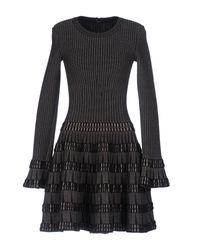 Alaïa - Black Short Dress - Lyst