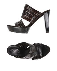 Tod's - Brown Sandals - Lyst