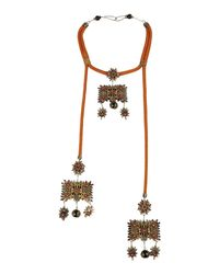 DSquared² - Brown Necklaces - Lyst