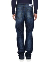 Department 5 - Blue Denim Pants for Men - Lyst