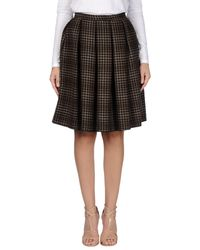 Trou Aux Biches - Blue Knee Length Skirt - Lyst
