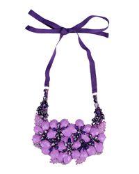 Alberta Ferretti - Pink Necklace - Lyst