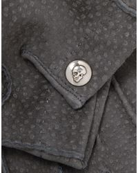 Alexander McQueen - Gray Gants for Men - Lyst