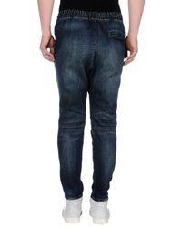 Balmain - Blue Denim Trousers for Men - Lyst