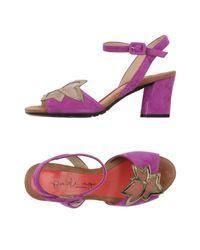 Pas De Rouge - Purple Sandals - Lyst