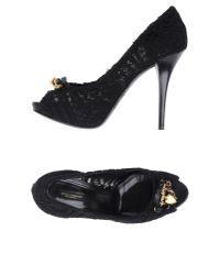 Dolce & Gabbana | Black Lace Pump | Lyst