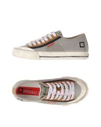 D.A.T.E. Originals - Gray Low-tops & Trainers - Lyst