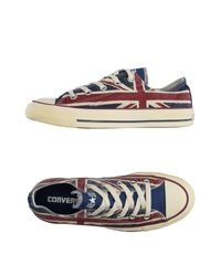 Converse - Blue Low-tops & Trainers - Lyst