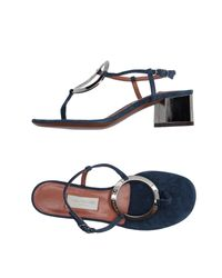 L'Autre Chose | Blue Thong Sandal | Lyst