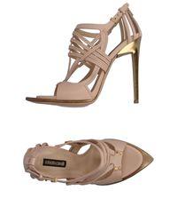 Roberto Cavalli | Pink Sandals | Lyst