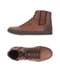 Geox - Brown Smart High Top Sneaker for Men - Lyst