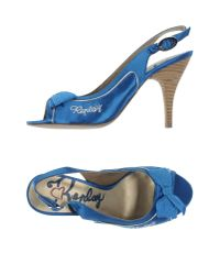 Replay - Blue Sandals - Lyst