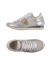 Philippe Model - Metallic Low-tops & Sneakers - Lyst