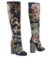 Dolce & Gabbana - Gray Boots - Lyst