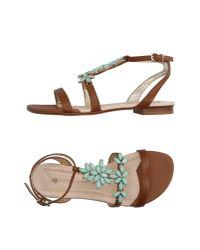 La Bottega Dell'artigiano | Brown Sandals | Lyst