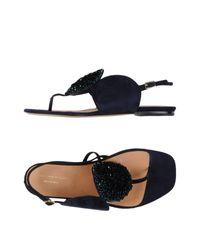 2d111aaa02e Lyst - Dries Van Noten Thong Sandal in Blue