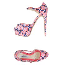 Brian Atwood | Pink Sandals | Lyst
