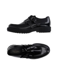 Valentino | Black Moccasins for Men | Lyst