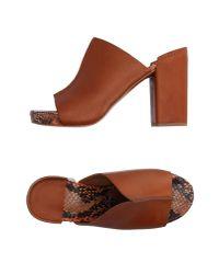 Robert Clergerie | Brown Sandals | Lyst
