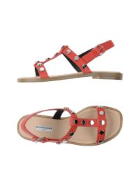 Balenciaga | Red Sandals | Lyst