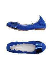 CafeNoir | Blue Ballet Flats | Lyst
