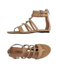 CoSTUME NATIONAL - Natural Toe Post Sandal - Lyst