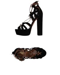 Aquazzura | Black Sandals | Lyst
