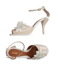 Fendi | Natural Sandals | Lyst