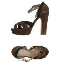 Strategia | Brown Sandals | Lyst