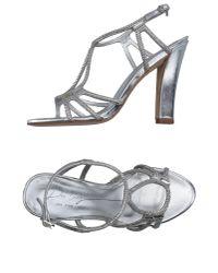 Lola Cruz | Metallic Sandals | Lyst