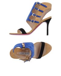 Luciano Padovan - Blue Sandals - Lyst