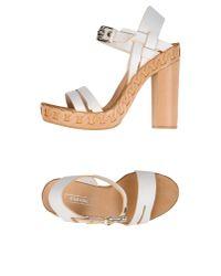 Casadei - White Sandals - Lyst