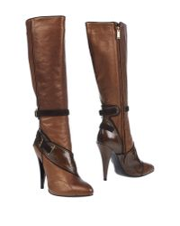 Versace - Brown Boots - Lyst