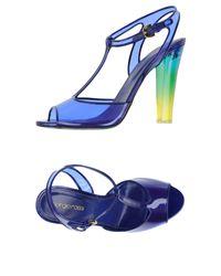Sergio Rossi | Blue Sandals | Lyst