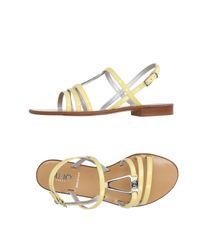 Liu Jo - Yellow Sandals - Lyst