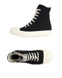 DRKSHDW by Rick Owens - Black High-tops & Sneakers - Lyst