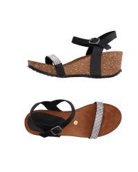 Les Chausseurs - Black Sandals - Lyst