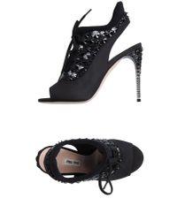 Miu Miu | Black Sandals | Lyst