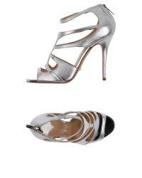 The Seller - Metallic Sandals - Lyst