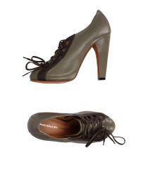 Nicole Brundage | Gray Lace-up Shoe | Lyst