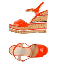 L'Autre Chose - Red Sandals - Lyst